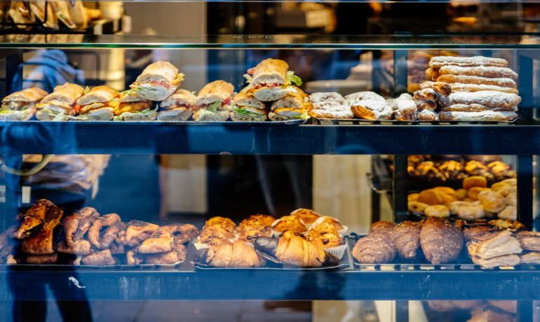 bakery with sandwich display